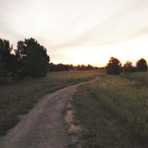 Sunrise after the run.